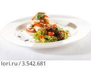 Купить «Салат Капрезе с помидорами», фото № 3542681, снято 17 апреля 2012 г. (c) CandyBox Images / Фотобанк Лори