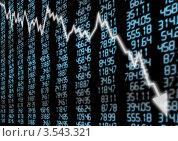 Купить «Фондовый рынок идет вниз», иллюстрация № 3543321 (c) Jan Mikš / Фотобанк Лори