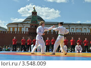 Купить «Выступление спортсменов на восьмом форуме ГТО на Красной площади. Москва», эксклюзивное фото № 3548009, снято 27 мая 2012 г. (c) lana1501 / Фотобанк Лори