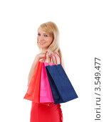 Девушка с покупками. Стоковое фото, фотограф Дмитрий Рогатнев / Фотобанк Лори