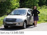 Купить «Женщина-автомобилист», эксклюзивное фото № 3549589, снято 24 мая 2012 г. (c) Дмитрий Неумоин / Фотобанк Лори