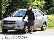 Купить «Женщина-автомобилист», эксклюзивное фото № 3549597, снято 24 мая 2012 г. (c) Дмитрий Неумоин / Фотобанк Лори