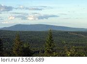 Купить «Панорама горы Качканар, Свердловская область», эксклюзивное фото № 3555689, снято 17 августа 2008 г. (c) Евгений Ткачёв / Фотобанк Лори