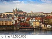 Купить «Набережная Праги, Чехия», фото № 3560005, снято 21 ноября 2011 г. (c) Яков Филимонов / Фотобанк Лори