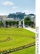 Купить «Вид на крепость Хоэнзальцбург (Hohensalzburg) из сада Мирабель. Зальцбург. Австрия», фото № 3560733, снято 26 мая 2012 г. (c) Екатерина Овсянникова / Фотобанк Лори