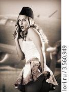 Купить «Портрет стюардессы, тонировано», фото № 3560949, снято 2 июня 2012 г. (c) katalinks / Фотобанк Лори