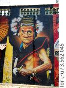 Купить «Индеец. Граффити в Мелаке, Малайзия», фото № 3562045, снято 7 апреля 2012 г. (c) Светлана Колобова / Фотобанк Лори