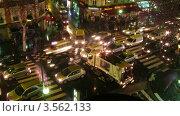 Купить «Пешеходный переход в центре Парижа ночью, Франция. Таймлапс. Вид сверху», видеоролик № 3562133, снято 3 апреля 2010 г. (c) Losevsky Pavel / Фотобанк Лори