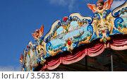 Купить «Крутящаяся карусель на фоне неба», видеоролик № 3563781, снято 27 января 2010 г. (c) Losevsky Pavel / Фотобанк Лори