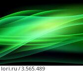Абстрактный фон с зелеными волнами. Стоковая иллюстрация, иллюстратор Михаил Моросин / Фотобанк Лори