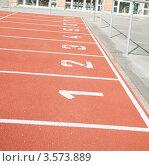 Купить «Беговая дорожка на стадионе в городе Ньон», фото № 3573889, снято 17 апреля 2012 г. (c) David Castillo Dominici / Фотобанк Лори