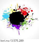 Кляксы чернил из цветов радуги. Стоковая иллюстрация, иллюстратор Виталий / Фотобанк Лори