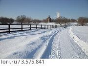 Снежная дорога в парке Коломенское (2012 год). Редакционное фото, фотограф Светлана Сарапкина / Фотобанк Лори