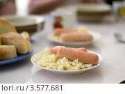 Купить «Обед в школьной столовой», фото № 3577681, снято 18 мая 2012 г. (c) Альбина Ялунина / Фотобанк Лори
