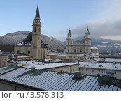Вид на Зальцбург, Австрия (2009 год). Стоковое фото, фотограф Юлия Ворожцова / Фотобанк Лори