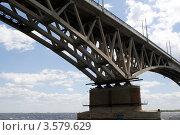 Мост над Волгой. Стоковое фото, фотограф Мекаев Александр / Фотобанк Лори