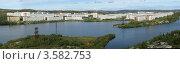 Купить «Панорама города Гаджиево Мурманской области», эксклюзивное фото № 3582753, снято 9 июля 2020 г. (c) Вячеслав Палес / Фотобанк Лори