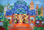 Кирпичный замок, детский рисунок (гуашь), иллюстрация № 3583573 (c) Ирина Иванова / Фотобанк Лори