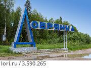 Купить «Знак на въезде в город Добрянка. Пермский край», фото № 3590265, снято 11 июня 2012 г. (c) Андрей Щекалев (AndreyPS) / Фотобанк Лори