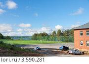 Купить «Стадион в городе Добрянка. Пермский край», фото № 3590281, снято 11 июня 2012 г. (c) Андрей Щекалев (AndreyPS) / Фотобанк Лори