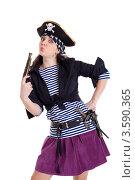 Женщина-пират. Стоковое фото, фотограф Евгений Ковылин / Фотобанк Лори