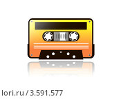 Магнитофонная кассета. Стоковая иллюстрация, иллюстратор Юлия Копачева / Фотобанк Лори