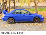 Купить «Автомобиль Subaru Impreza», эксклюзивное фото № 3594845, снято 8 октября 2011 г. (c) Алёшина Оксана / Фотобанк Лори