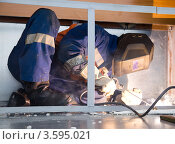 Купить «Сварщик за работой», фото № 3595021, снято 28 марта 2012 г. (c) Александр Новиков / Фотобанк Лори