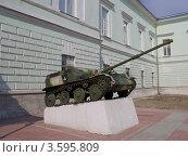Купить «Авиадесантная самоходная артиллерийская установка АСУ-57 у входа в Музей истории ВДВ, г.Рязань», фото № 3595809, снято 7 мая 2012 г. (c) Иван Марчук / Фотобанк Лори