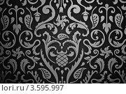 Текстура с серебристым растительным рисунком (2012 год). Редакционное фото, фотограф Фотиев Михаил / Фотобанк Лори