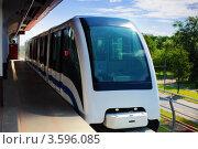 Купить «Поезд монорельсовой дороги», фото № 3596085, снято 2 июня 2012 г. (c) Vitas / Фотобанк Лори