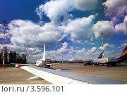 Купить «Самолет в аэропорту Шереметьево. Москва», фото № 3596101, снято 9 июня 2012 г. (c) Vitas / Фотобанк Лори