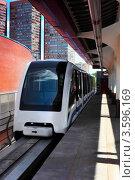 Купить «Монорельсовый поезд на монорельсовой дороге», фото № 3596169, снято 2 июня 2012 г. (c) Vitas / Фотобанк Лори