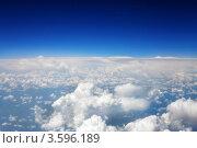 Купить «Синее небо и белые облака, вид из самолёта», фото № 3596189, снято 31 мая 2012 г. (c) Vitas / Фотобанк Лори