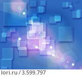 Абстрактный голубой фон с квадратиками. Стоковая иллюстрация, иллюстратор Anna Bukharina / Фотобанк Лори