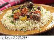 Купить «Баранина с овощами и кускусом», фото № 3600397, снято 29 февраля 2012 г. (c) Stockphoto / Фотобанк Лори