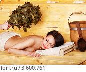 Купить «Девушка в сауне», фото № 3600761, снято 14 апреля 2012 г. (c) Gennadiy Poznyakov / Фотобанк Лори