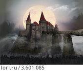 Замок Дракулы. Стоковая иллюстрация, иллюстратор Калятина Наталья / Фотобанк Лори