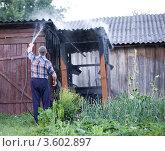 Пожар. Стоковое фото, фотограф Юрий Горид / Фотобанк Лори