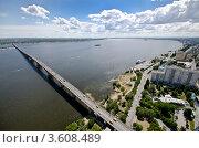 Купить «Мост через Волгу», фото № 3608489, снято 30 мая 2012 г. (c) Yanchenko / Фотобанк Лори