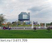 Национальная библиотека Республики Беларусь, Минск, Беларусь (2008 год). Стоковое фото, фотограф UladzimiR / Фотобанк Лори