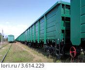 Железнодорожные вагоны (2012 год). Редакционное фото, фотограф Алексей Макшаков / Фотобанк Лори