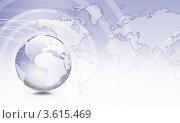 Купить «Земной шар на фоне карты мира», иллюстрация № 3615469 (c) Sergey Nivens / Фотобанк Лори