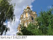 Купить «Колокольня в Новоспасском монастыре. Москва», эксклюзивное фото № 3623897, снято 18 июня 2012 г. (c) lana1501 / Фотобанк Лори