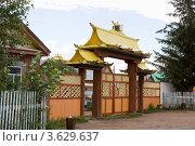 Ворота Иволгинского дацана (2007 год). Стоковое фото, фотограф Солодовникова Елена / Фотобанк Лори