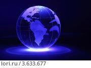 Стеклянный земной шар на темно-синем фоне. Стоковое фото, фотограф Losevsky Pavel / Фотобанк Лори