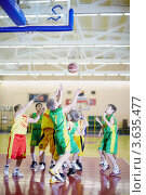 Купить «Детские соревнования по баскетболу», фото № 3635477, снято 12 февраля 2011 г. (c) Losevsky Pavel / Фотобанк Лори
