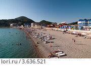 Купить «Черноморское побережье, 2012 год, пляж, набережная», фото № 3636521, снято 11 июня 2012 г. (c) Игорь Р / Фотобанк Лори