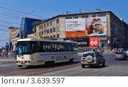 Трамвай в Новосибирске (2012 год). Редакционное фото, фотограф Anna Bukharina / Фотобанк Лори