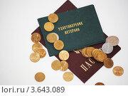Удостоверение ветерана, паспорт и деньги. Стоковое фото, фотограф Евгения Плешакова / Фотобанк Лори